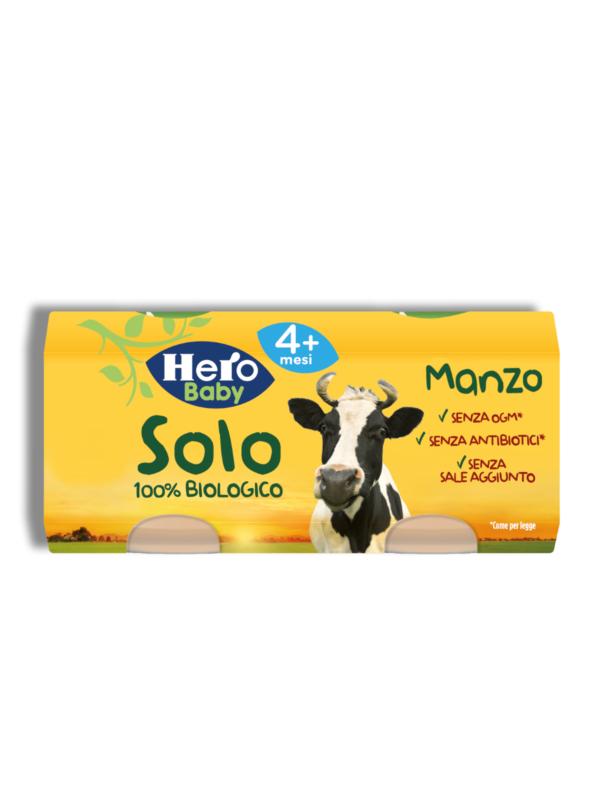 Omogeneizzato Manzo 2x80 gr - Hero Solo - Omogeneizzato carne