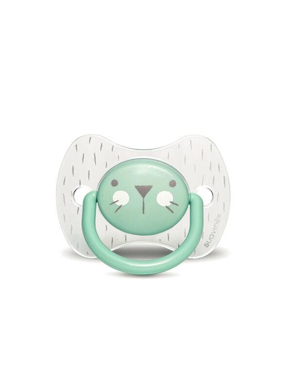 Hygge succh ana s 6-18 coniglio verde crystal - SUAVINEX - Ciucci