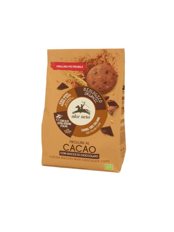 Frollino al cacao con gocce cioccolato Bio Alce Nero 250g - Alce Nero - Biscotti per bambini