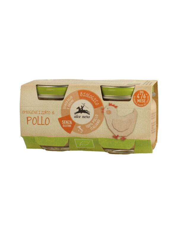Omogeneizzato di pollo Baby Food Bio Alce Nero 80g*2 - Alce Nero - Omogeneizzato carne