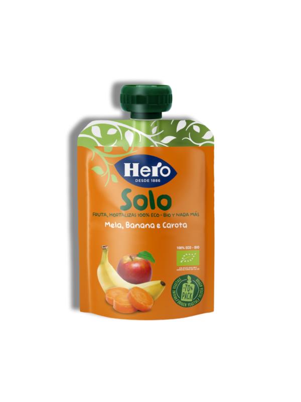 Pouch Mela Banana Carota 1x100 gr - Hero Solo