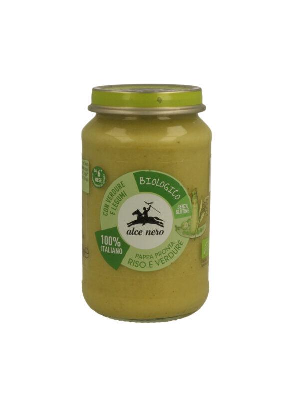 Pappa pronta riso e verdure Baby Food bio Alce Nero 200g - Alce Nero - Creme e Pappe Lattee