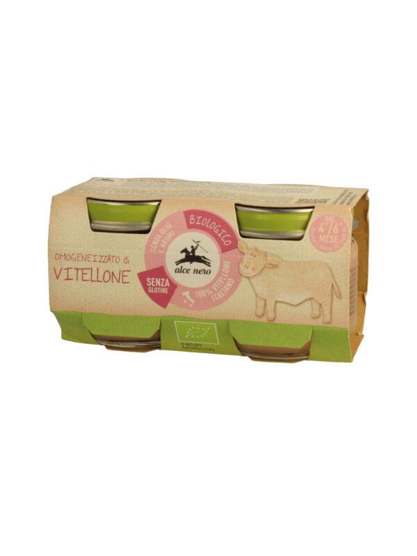 Omogeneizzato di vitellone Baby Food Bio Alce Nero 80g*2 - acquisto minimo 12 vasetti - Alce Nero - Omogeneizzato carne