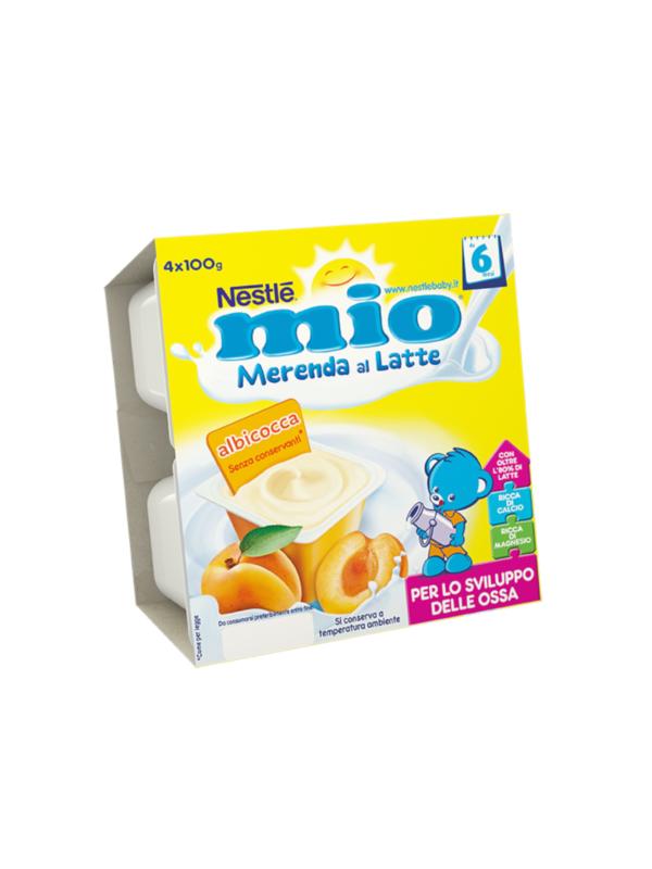 NESTLE' - Merenda lattea albicocca 4x100 gr - NESTLE' - Yogurt e budini per bambini