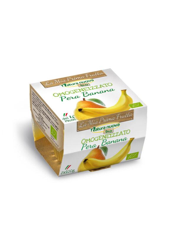 NATURA NUOVA - Omogeneizzato bio pera banana 2x100 gr - Natura Nuova - Omogeneizzato frutta