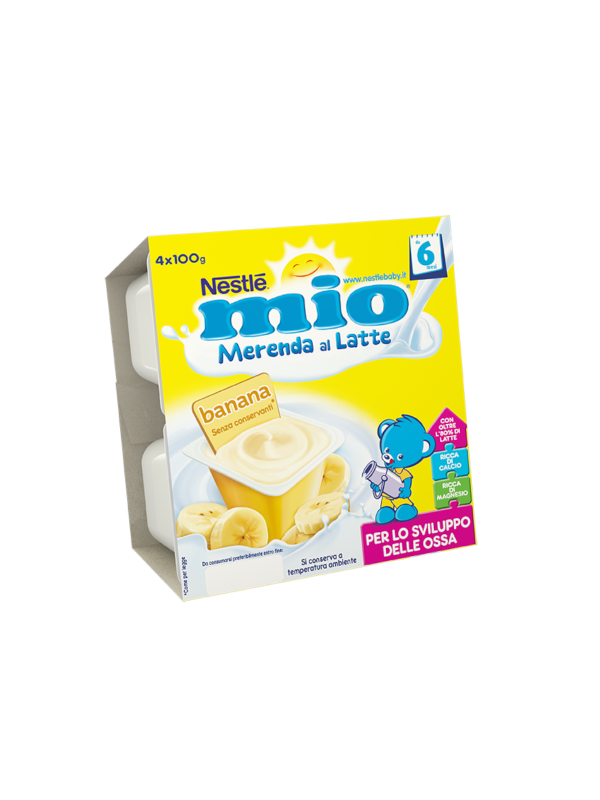 NESTLE' - Merenda lattea banana 4x100 gr - NESTLE' - Yogurt e budini per bambini