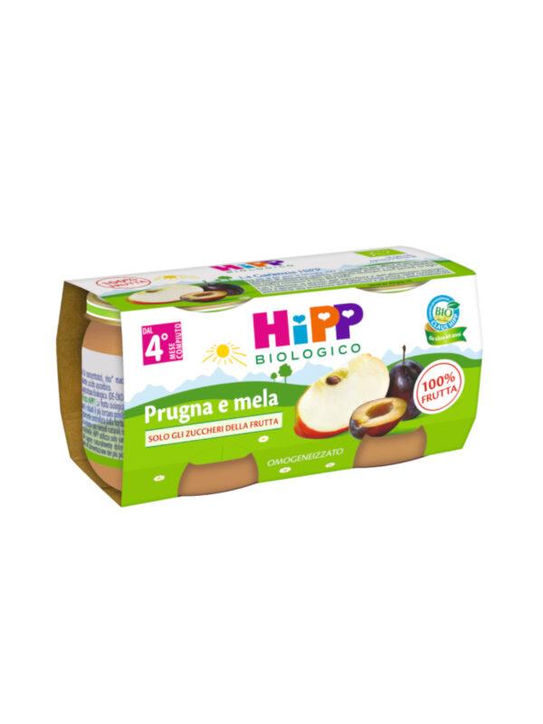 Omogeneizzato Prugna e mela 100% 2x80g - HiPP - Omogeneizzato frutta