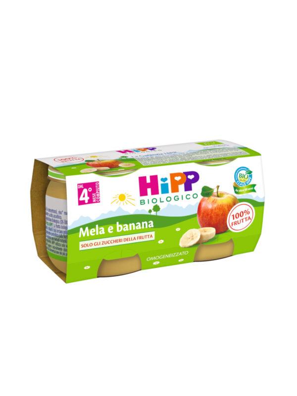 Omogeneizzato Mela e banana 100% 2x80 g - HiPP - Omogeneizzato frutta