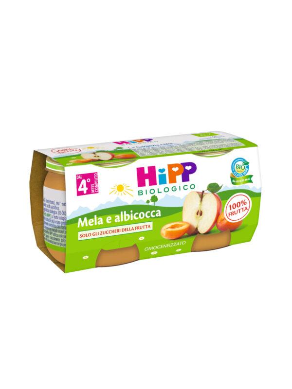 Omogeneizzato Albicocca e mela 100% 2x80g - HiPP - Omogeneizzato frutta