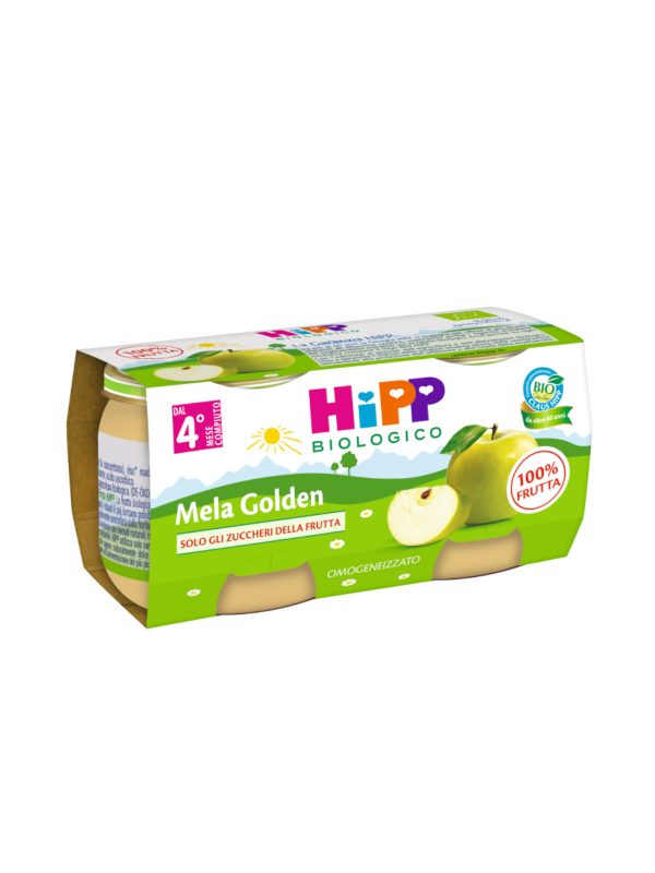 Omogeneizzato Mela Golden 100% 2x80g - HiPP - Omogeneizzato frutta