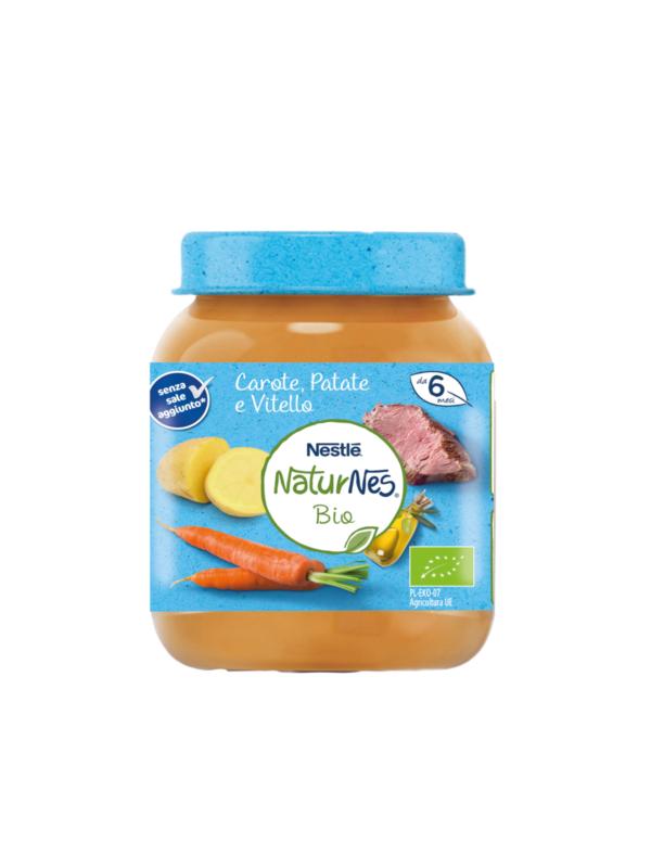 NATURNES - Baby menù carote patate vitello 190 gr - NATURNES BIO - Pappe complete