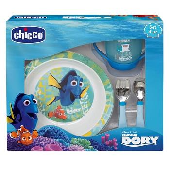 Chicco Set pappa Dory azzurro 18 mesi - Preparazione Pappa