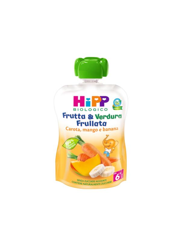 Frutta e verdura frullata carota mango e banana 90 gr - HiPP - Merende da bere