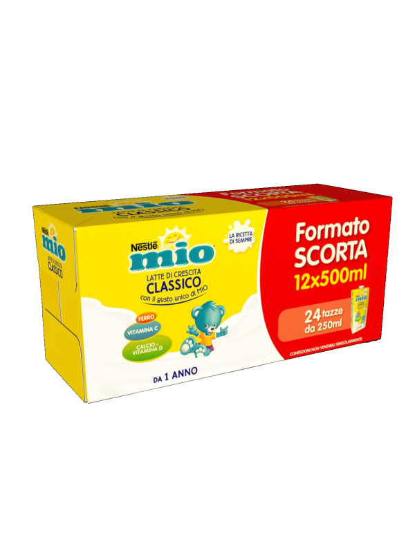 NESTLE' MIO  Latte di crescita gusto classico 12x500 ml - NESTLE' - Latte crescita 3-4-5
