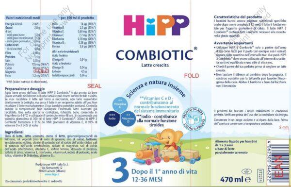 Latte 3 Crescita 470 ml - HiPP - Latte crescita 3-4-5