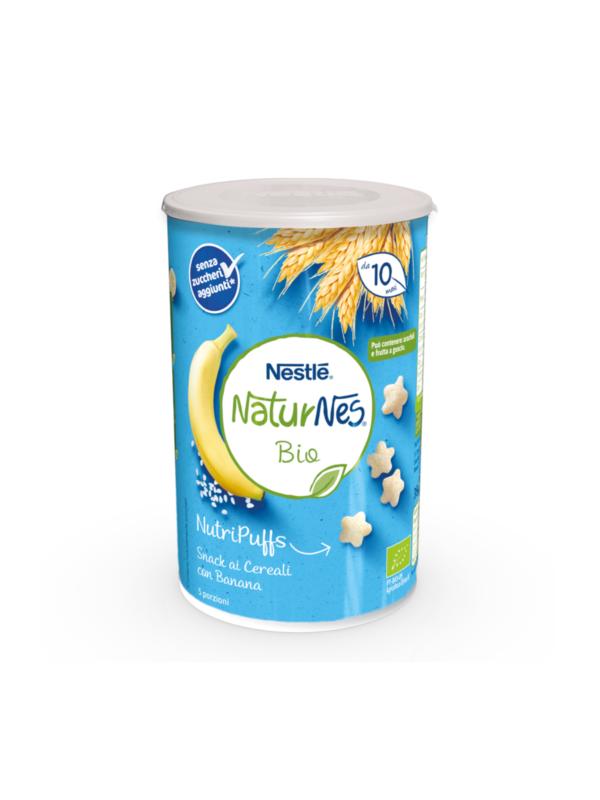 NATURNES - Nutripuffs cereali banana 35 gr - NATURNES BIO - Snack per bambini