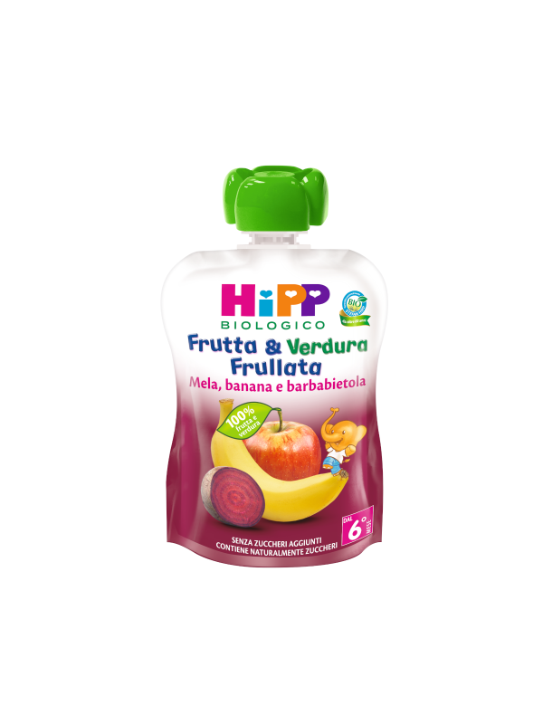Frutta e verdura frullata mela banana e barbabietola  90 gr - HiPP - Frutta frullata