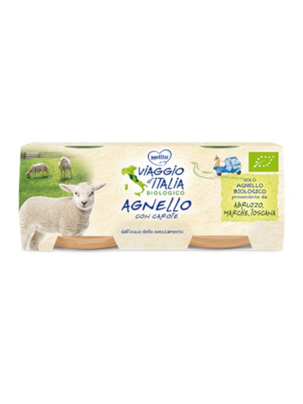 MELLIN - bio omo agnello con carote 2x80gr - MELLIN - Omogeneizzato carne