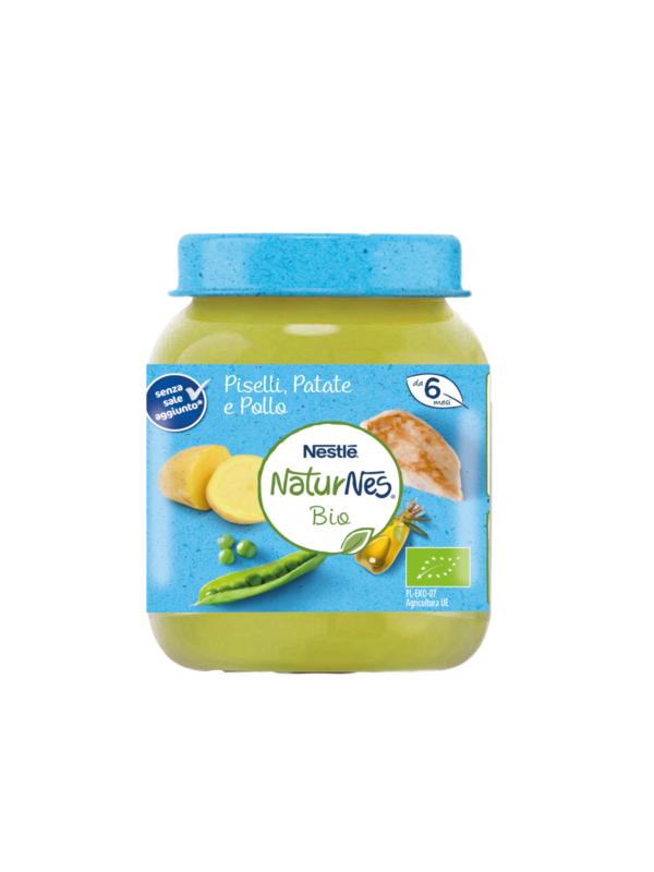 NATURNES - baby menù piselli patate pollo 190 gr - NATURNES BIO - Pappe complete