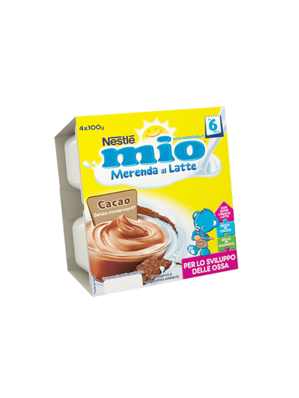 NESTLE' - Merenda lattea cacao 4x100 gr - NESTLE' - Yogurt e budini per bambini