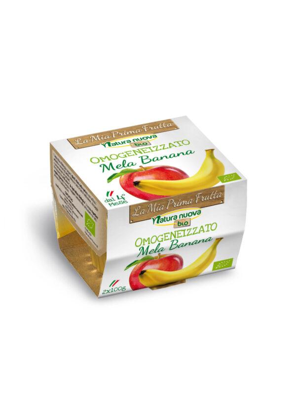 NATURA NUOVA - Omogeneizzato bio mela banana 2x100 gr - Natura Nuova - Omogeneizzato frutta