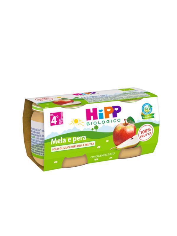 Omogeneizzato Mela e pera 100% 2x80g - HiPP - Omogeneizzato frutta