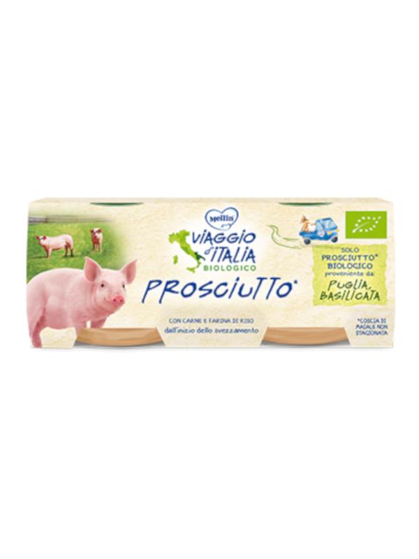 MELLIN - bio omo prosciutto 2x80 gr - MELLIN - Omogeneizzato carne