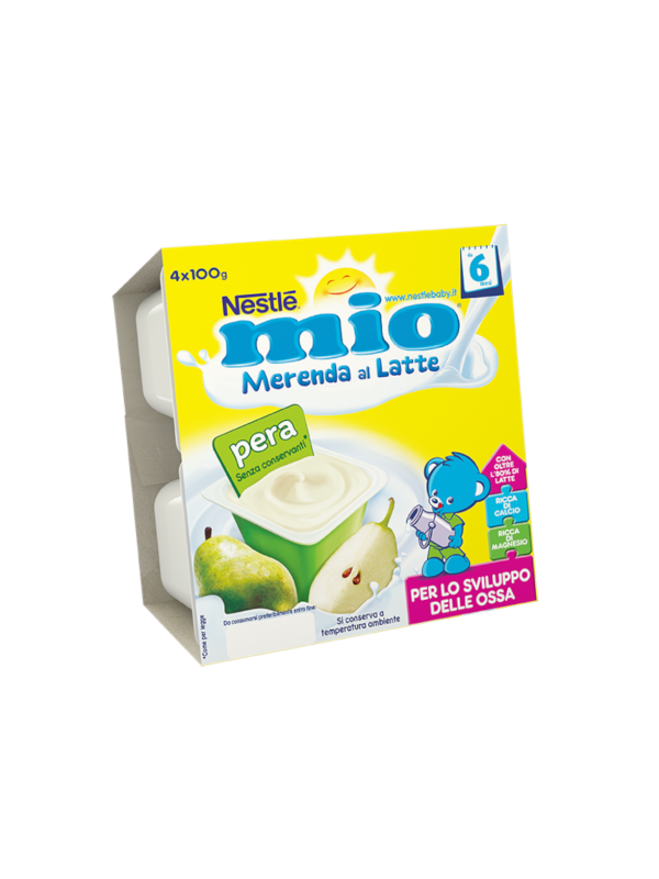 NESTLE' - Merenda lattea pera 4x100 gr - NESTLE' - Yogurt e budini per bambini