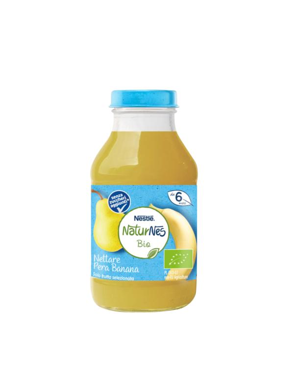 NATURNES - Nettare bio pera banana 200 ml - NATURNES BIO - Succhi di frutta per bambini