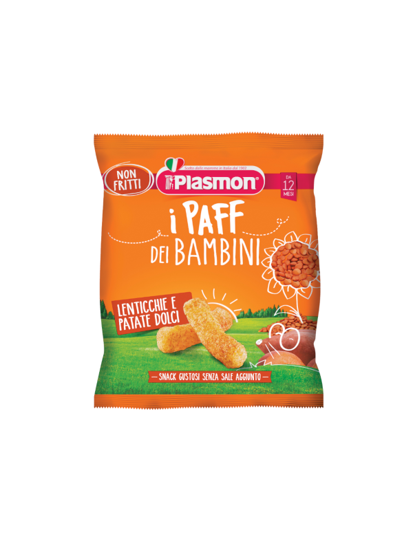 Plasmon - Paff lenticchie e patate dolci 15 gr - Plasmon - Snack per bambini