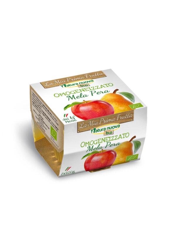 NATURA NUOVA - Omogeneizzato bio mela pera 2x100 gr - Natura Nuova - Omogeneizzato frutta