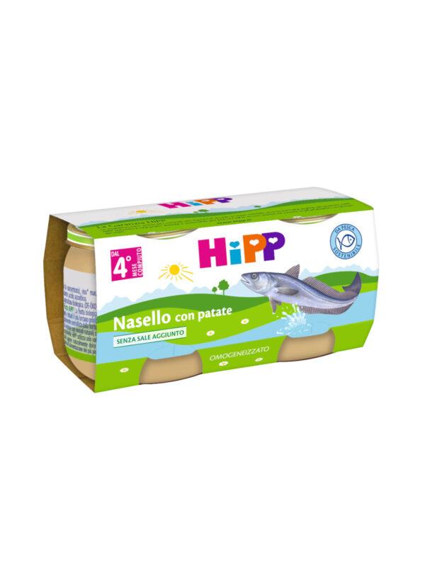 Omogeneizzato Nasello con patate 2x80g - acquisto minimo 24 vasetti - HiPP - Omogeneizzato pesce