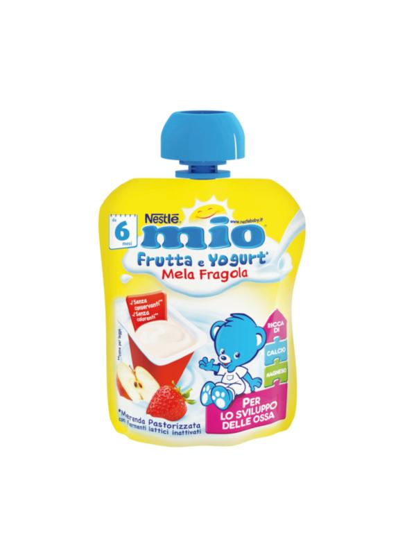 NESTLE' - Mio Pouch yogurt mela fragola 90 gr - NESTLE' - Merende da bere