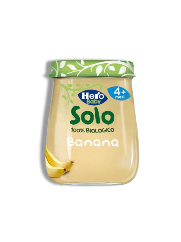 Omogeneizzato  Banana 1x120 gr - Hero Solo - Omogeneizzato frutta