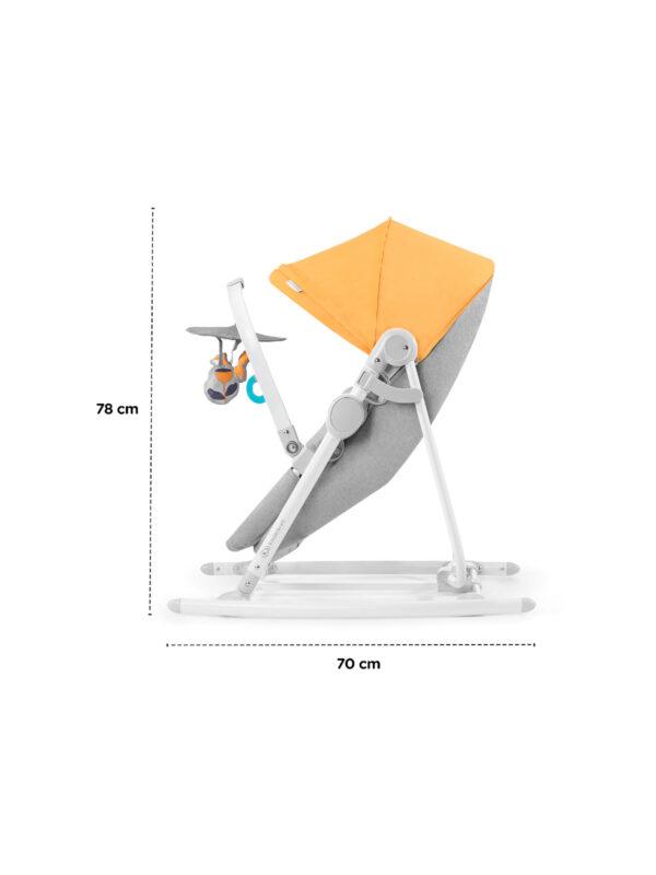 Kindrekraft Altalena e sdraietta a dondolo UNIMO 2020 gialla - KinderKraft - Sdraiette e altalene