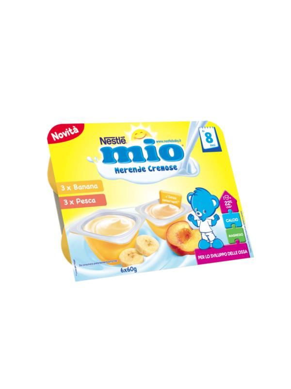 NESTLE' - Merenda cremosa banana e pesca 6x60 gr - NESTLE' - Yogurt e budini per bambini