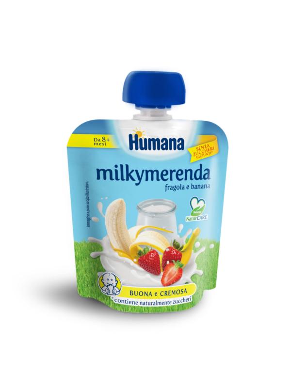 HUMANA MilkyMerenda fragola e banana 100 gr - HUMANA - Yogurt e budini per bambini