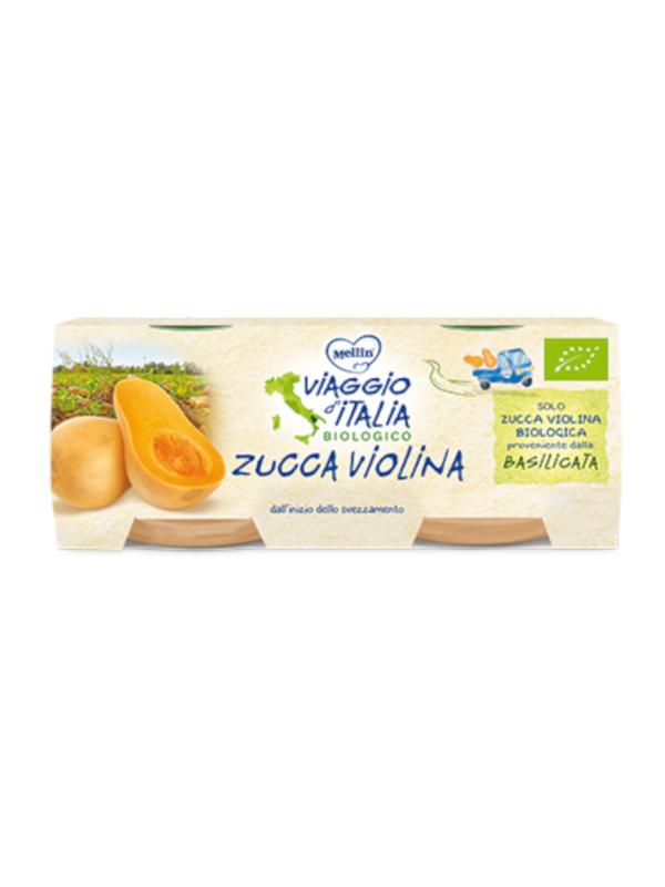 MELLIN bio omo zucca violina 2x80 gr - MELLIN - Omogeneizzato frutta
