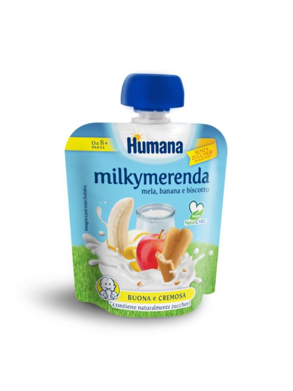 HUMANA - MilkyMerenda mela banana biscotto 100 gr - HUMANA - Yogurt e budini per bambini