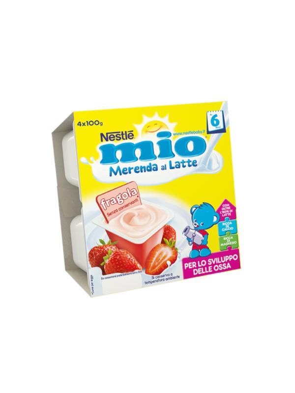 NESTLE' - Merenda lattea fragola 4x100 gr - NESTLE' - Yogurt e budini per bambini