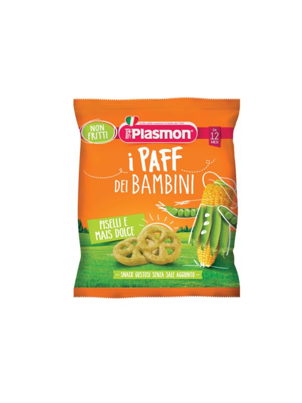 PLASMON - Paff piselli e mais 15 gr - Plasmon - Snack per bambini