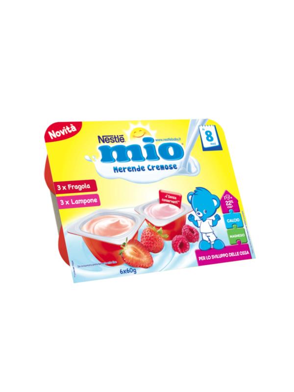 NESTLE' - Merenda cremosa fragola e lampone 6x60 gr - NESTLE' - Yogurt e budini per bambini