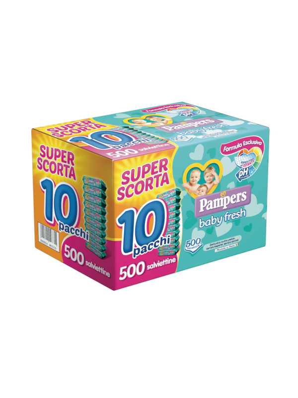 PAMPERS - Baby Fresh formula esclusiva 500 pz - Cura e cosmesi bambino