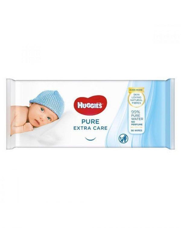 Salviettine huggies pure extra care - 56 pezzi - Cura e cosmesi bambino