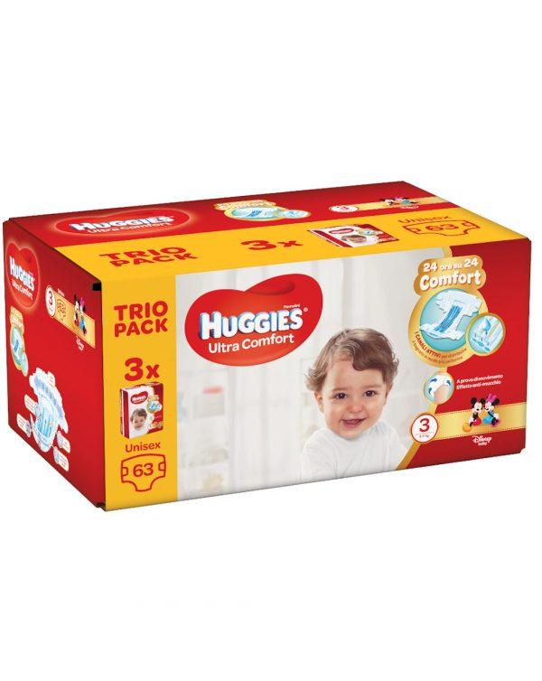 Huggies ultra comfort (4-9 kg) - 63 pezzi - Taglia 3 (4-9 kg)