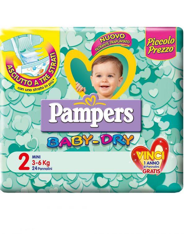 Pampers baby-dry mini (3-6 kg) - Taglia 2 (3-6 kg)