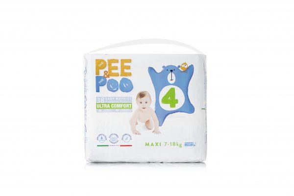 Pee&Poo Maxi Taglia 4 - 38 pz - PEE&POO - Taglia 4 (7-18 kg)