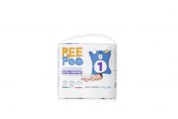 Pee&Poo New Born Taglia 1 - 28 pz - PEE&POO - Taglia 1 (2-5 kg)