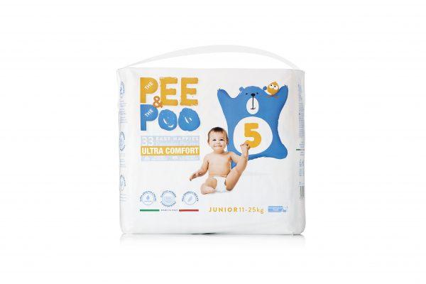 Pee&Poo Junior Taglia 5 - 33 pz - PEE&POO - Taglia 5 (11-25 kg)
