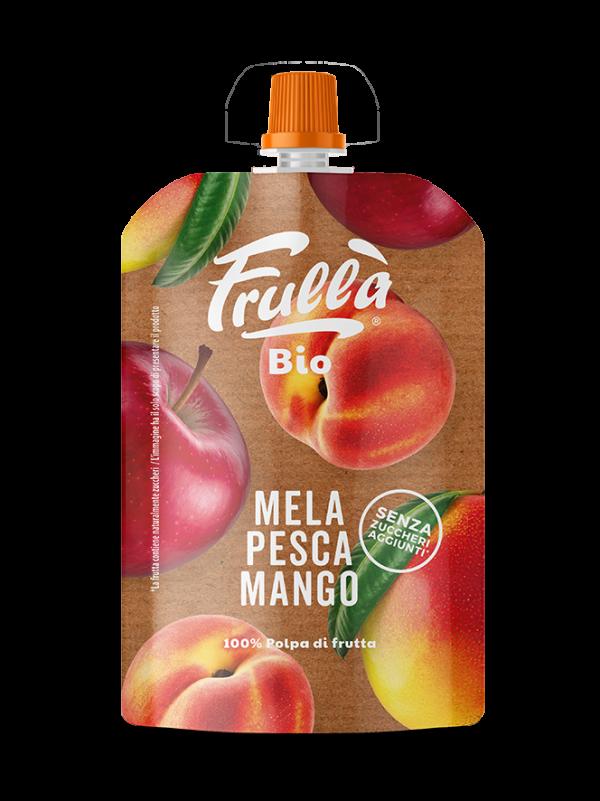 FRUTTA FRULLATA BIO MELA PESCA MANGO 100GR - Natura Nuova Bio - Frutta frullata